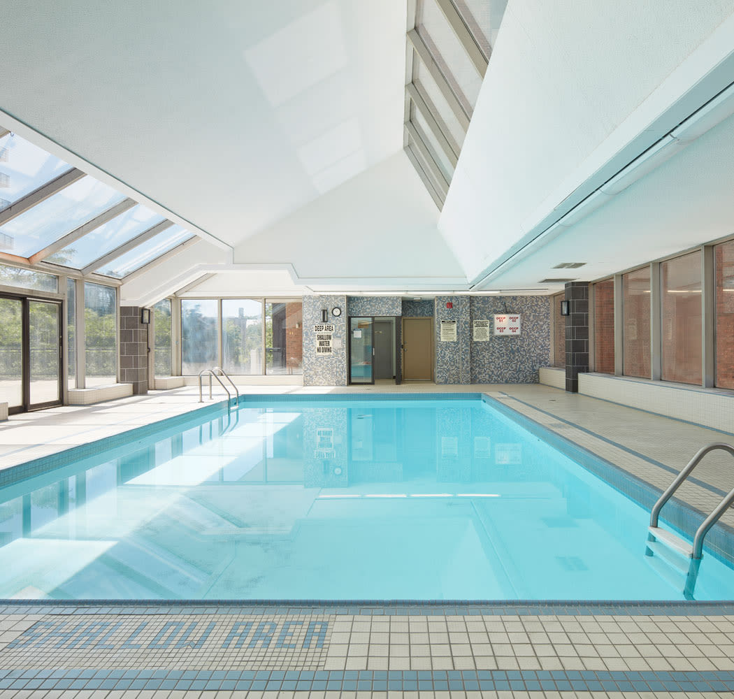 Beautiful swimming pool at 57 Charles at Bay in Toronto, Ontario