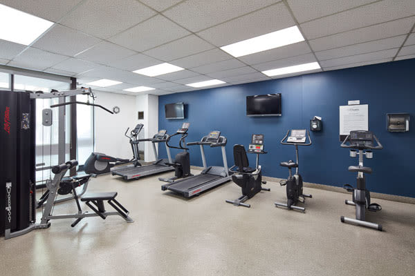 State-of-the-art fitness center at 57 Charles at Bay in Toronto, Ontario