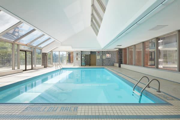 Beautiful swimming pool at 57 Charles at Bay in Toronto, Ontario
