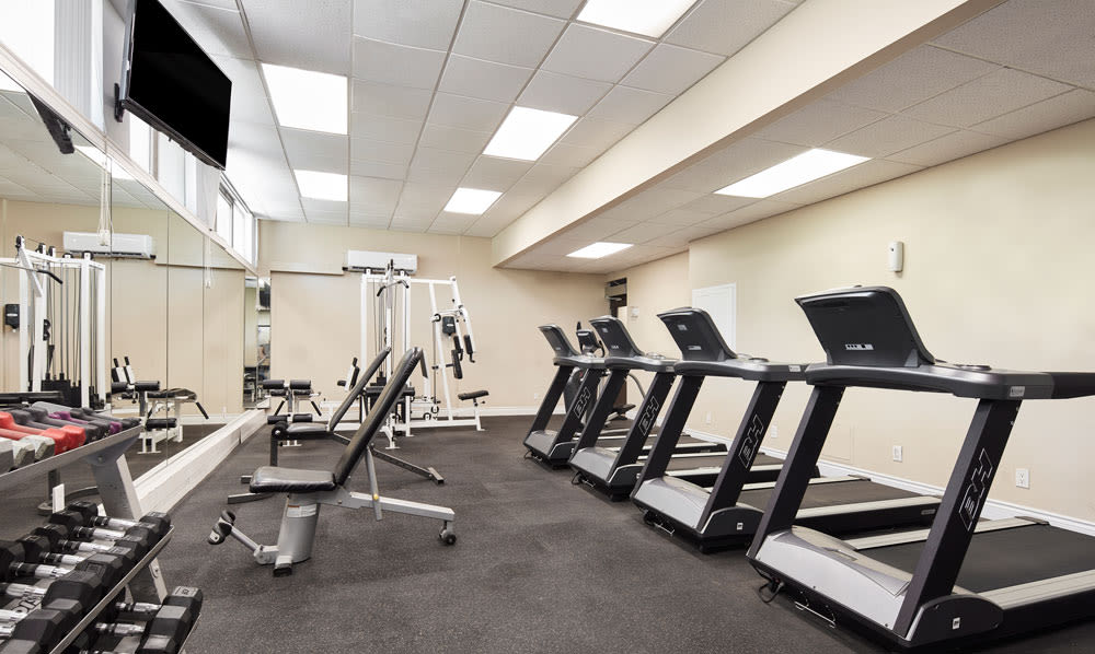 State-of-the-art fitness center at Bretton Place in Toronto, Ontario