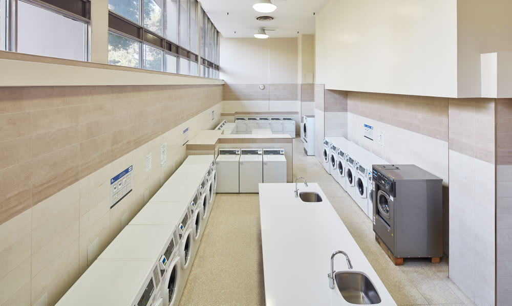 on-site laundry facility at Bretton Place in Toronto, ON