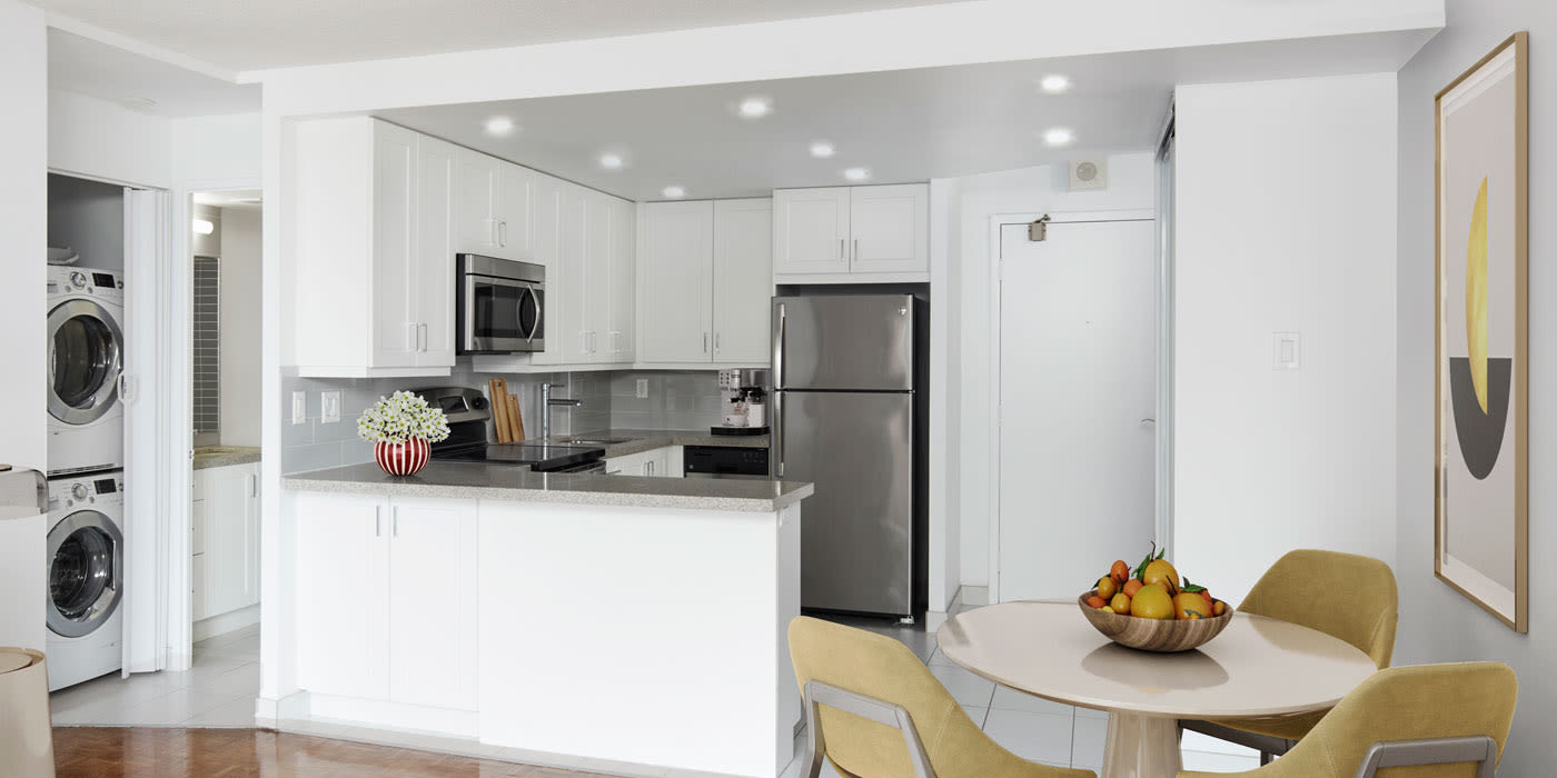 Fully-equipped kitchen at Residences on Bloor