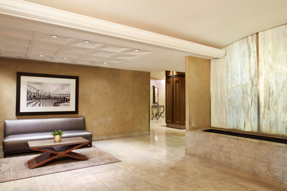 Lobby at Residences on Bloor in Toronto. ON