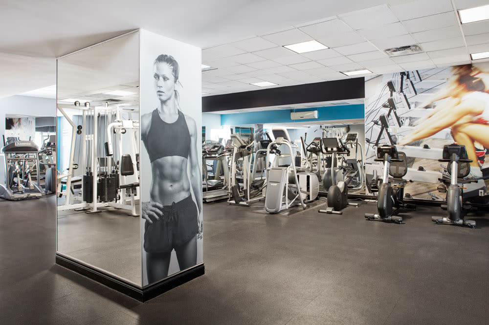 State-of-the-art fitness center at Residences on Bloor in Toronto, Ontario