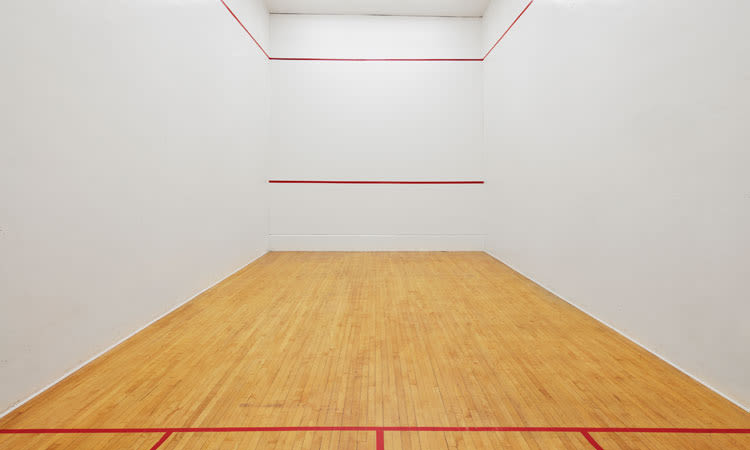 Racquetball court at Widdicombe Place in Etobicoke, ON