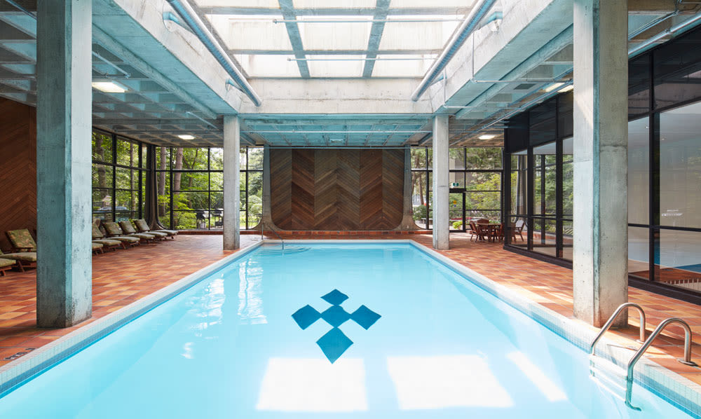 Indoor swimming pool at Widdicombe Place in Etobicoke