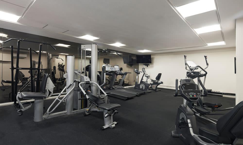 Widdicombe Place fitness area in Etobicoke