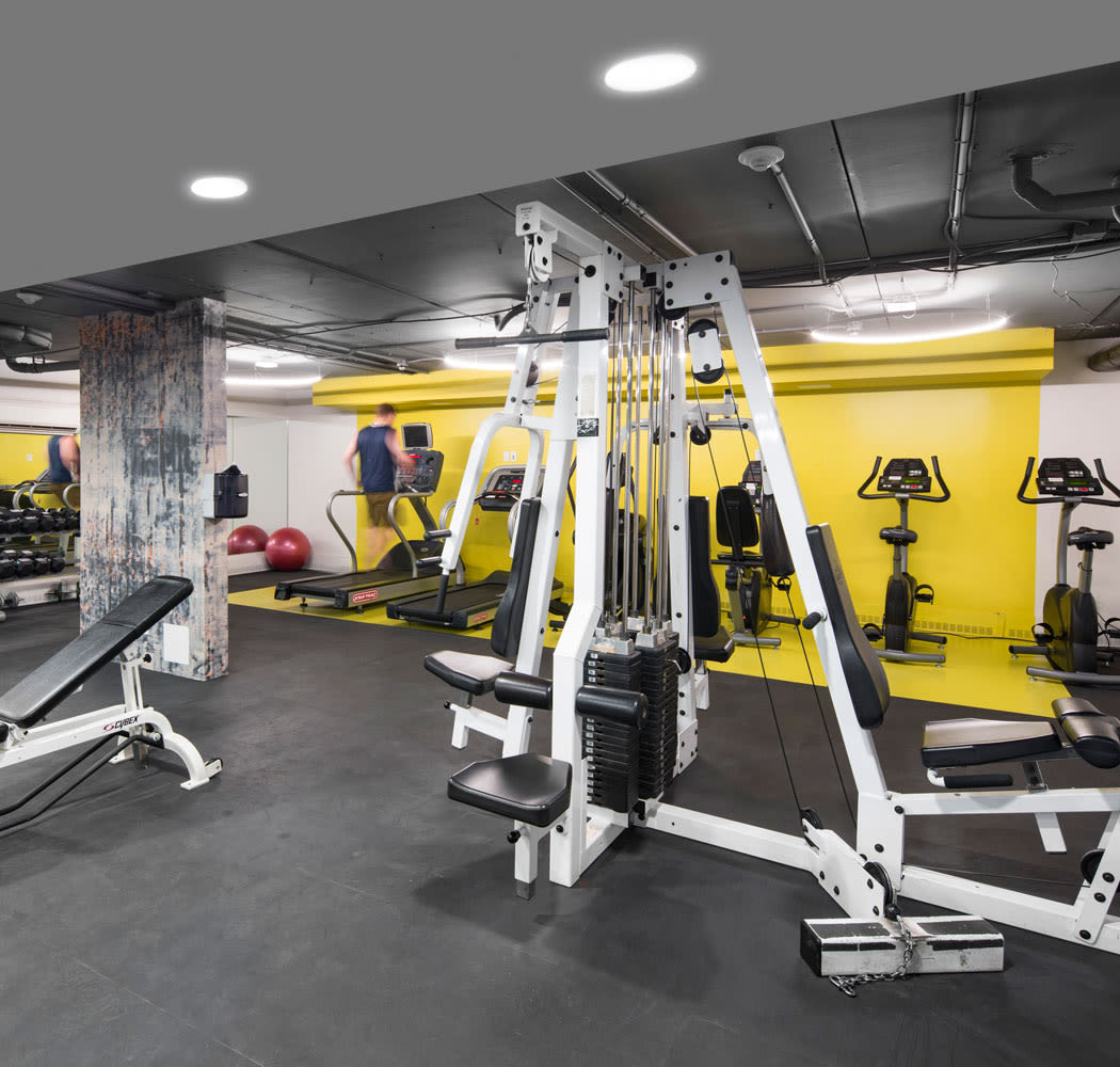 Royal View Apartments offers a state-of-the-art fitness center in Calgary, Alberta