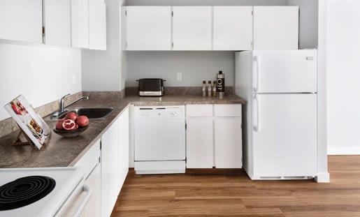 Beautiful kitchen at Royal View Apartments in Calgary, Alberta