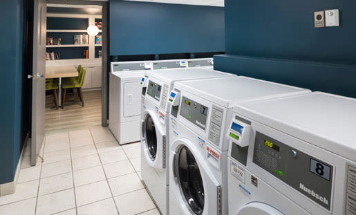 On-site laundry facility at Royal View Apartments in Calgary, AB