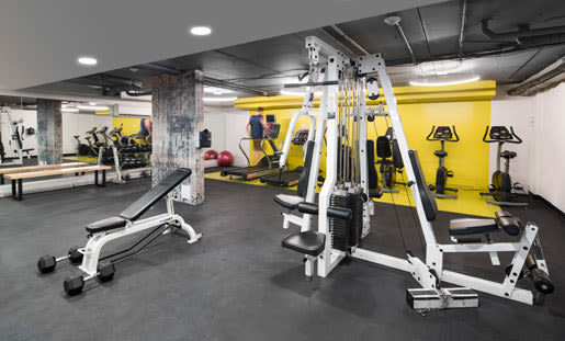 State-of-the-art fitness center at Royal View Apartments in Calgary, Alberta