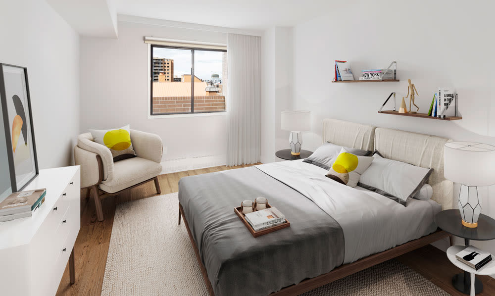 Enjoy our modern apartments bedroom at Royal View Apartments