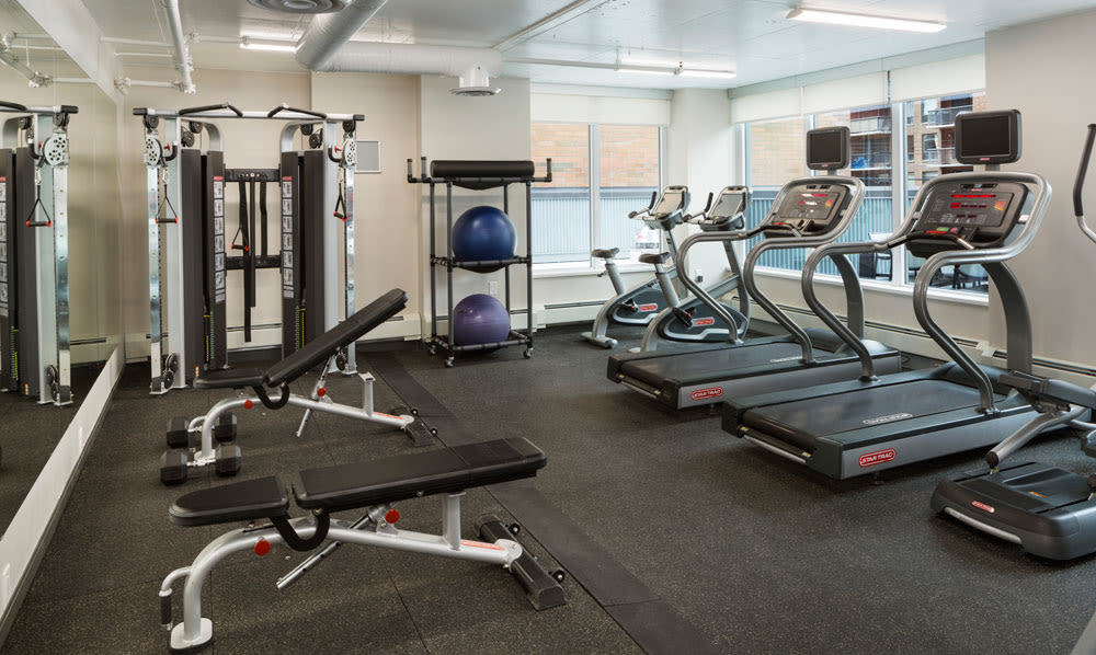 Enjoy our state-of-the-art apartments fitness center at Fifteen15