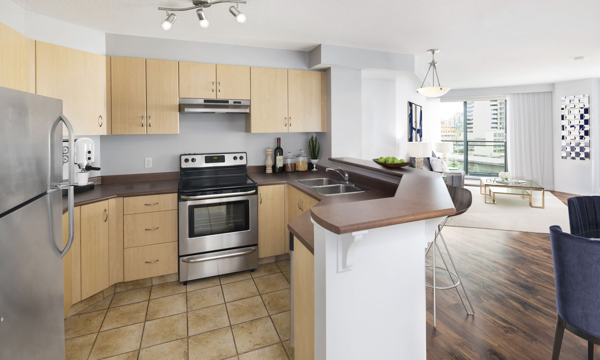 Discovery Pointe offers a beautiful kitchen in Calgary, Alberta