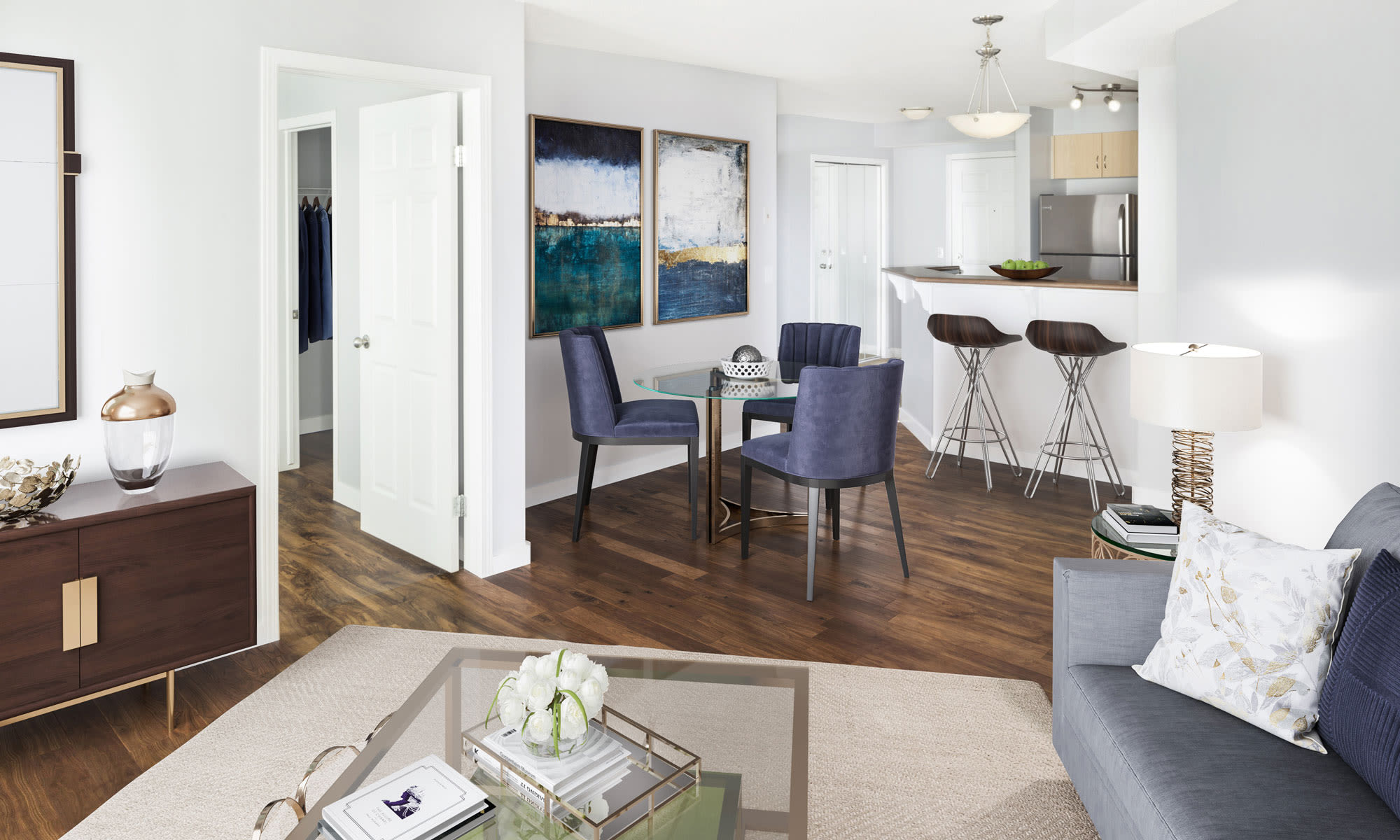 Large open floor plans at Discovery Pointe in Calgary