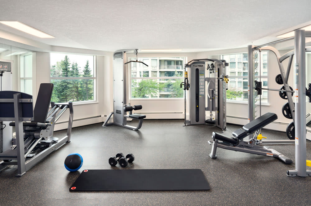 State-of-the-art fitness center at Discovery Pointe in Calgary, Alberta