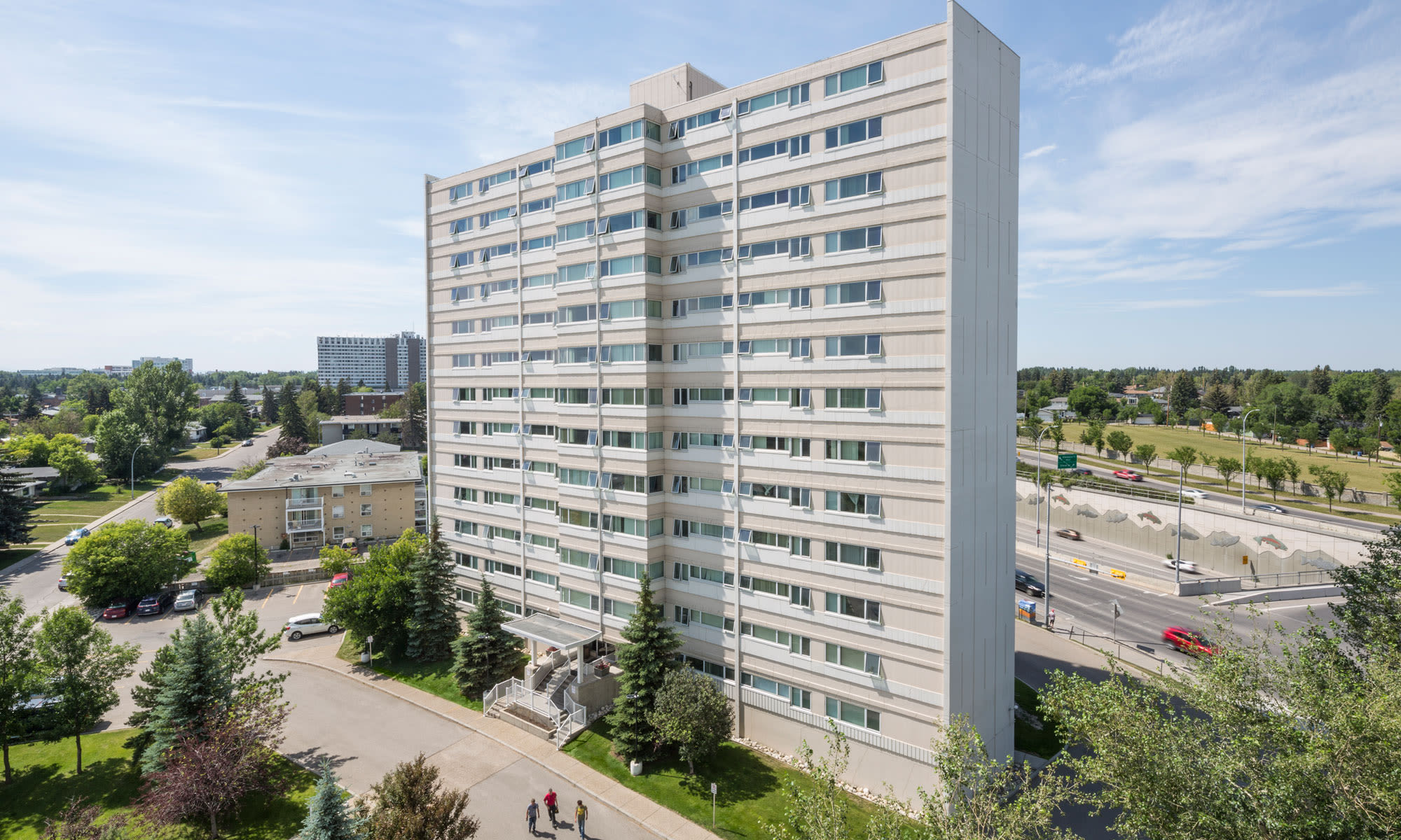 Aerial view of Glenmore Heights in Calgary, AB