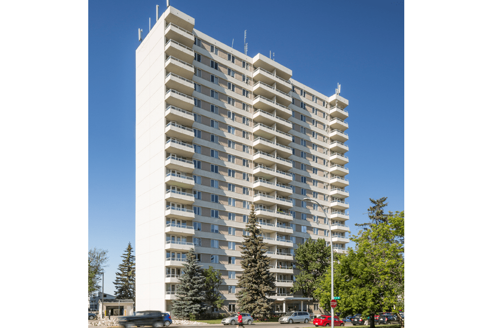 Exterior view at Glenmore Heights in Calgary, AB