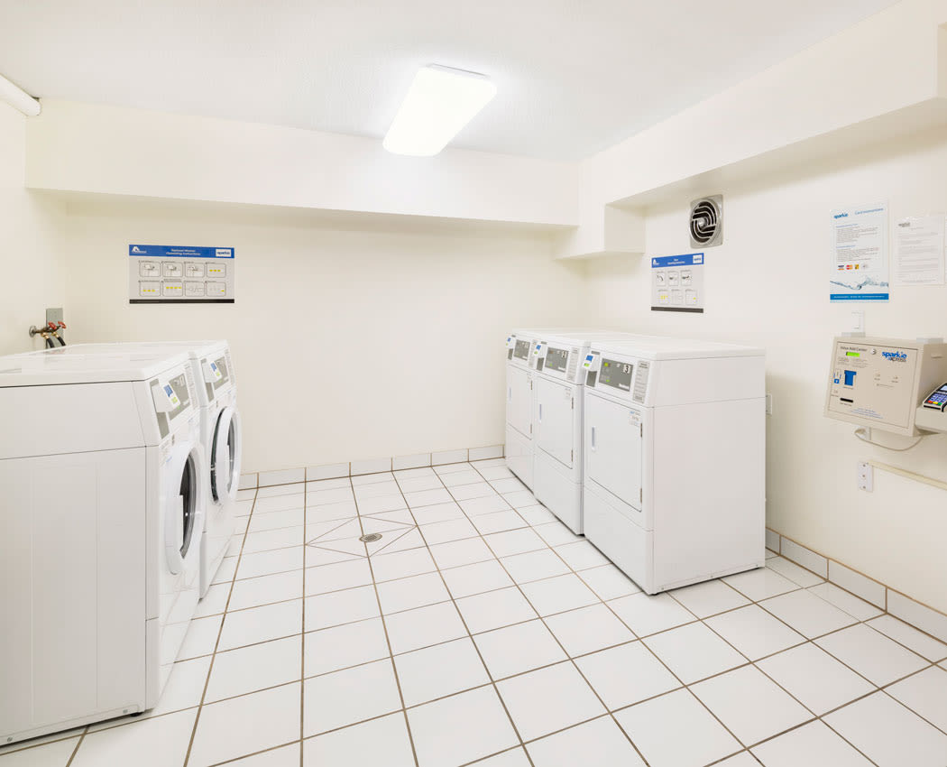 on-site laundry facility at Lakeview Mews