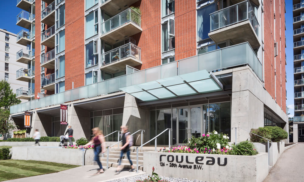 Exterior entrance view of Rouleau