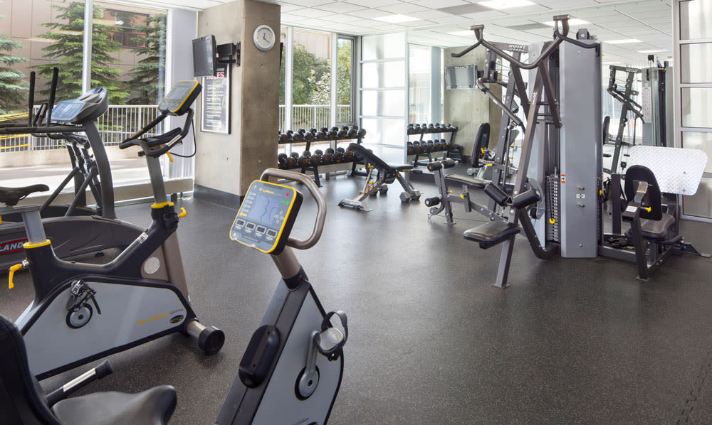 Enjoy our state-of-the-art apartments fitness center at Rouleau