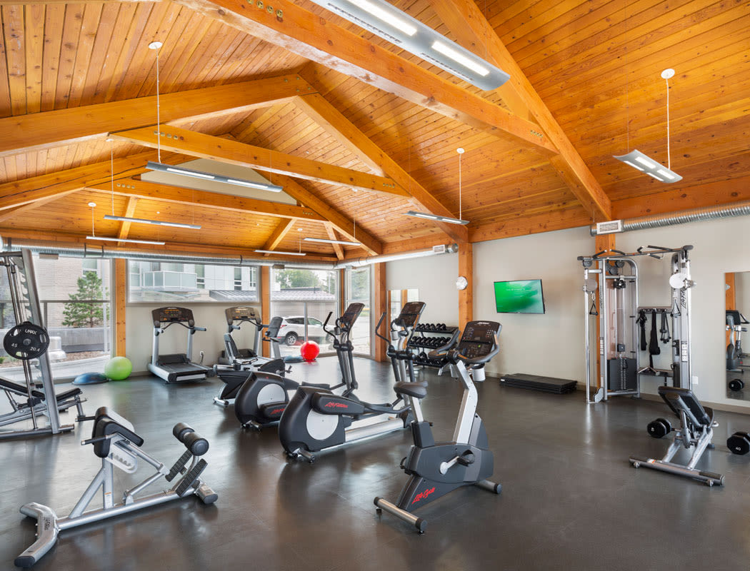 State-of-the-art fitness center at Glenmore Gardens in Calgary, Alberta