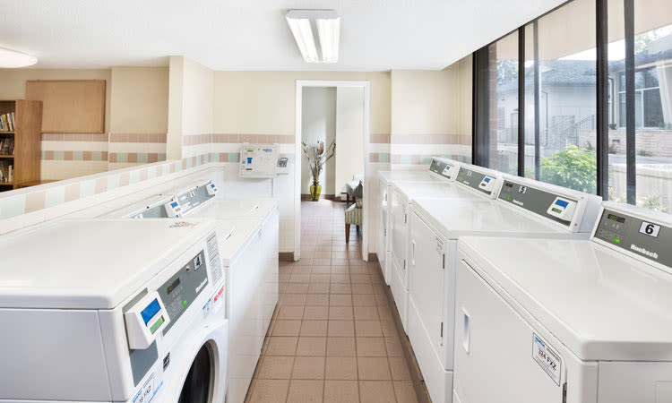 On-site laundry facility at Glenmore Gardens in Calgary, AB