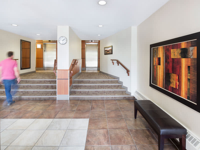Entryway and lobby at Glenmore Gardens