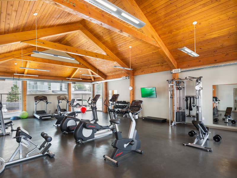 Glenmore Gardens offers a state-of-the-art fitness center in Calgary, Alberta