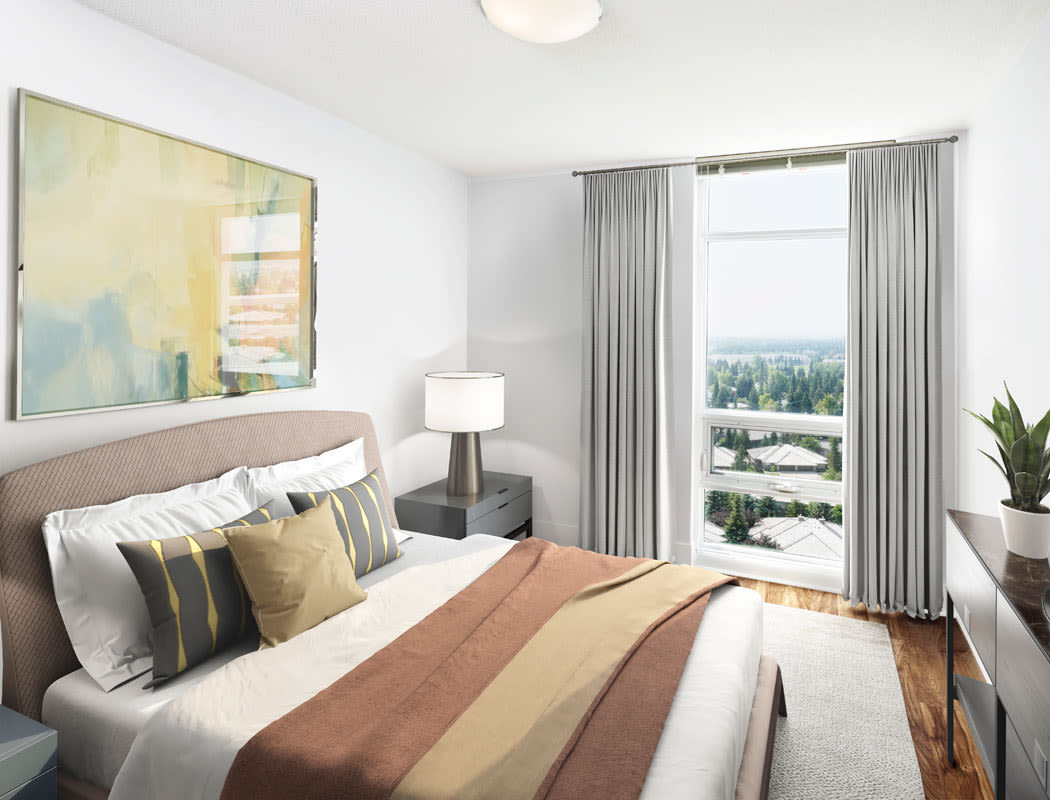 Elata offers a beautiful bedroom in Calgary, Alberta