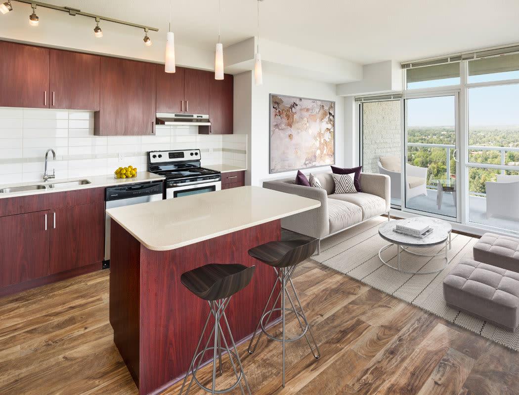 Beautiful kitchen at Elata in Calgary, Alberta
