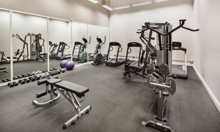 State-of-the-art fitness center at Saskatoon Tower in Saskatoon, Saskatchewan