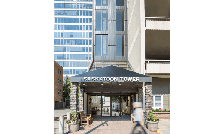 Entrance to Saskatoon Tower
