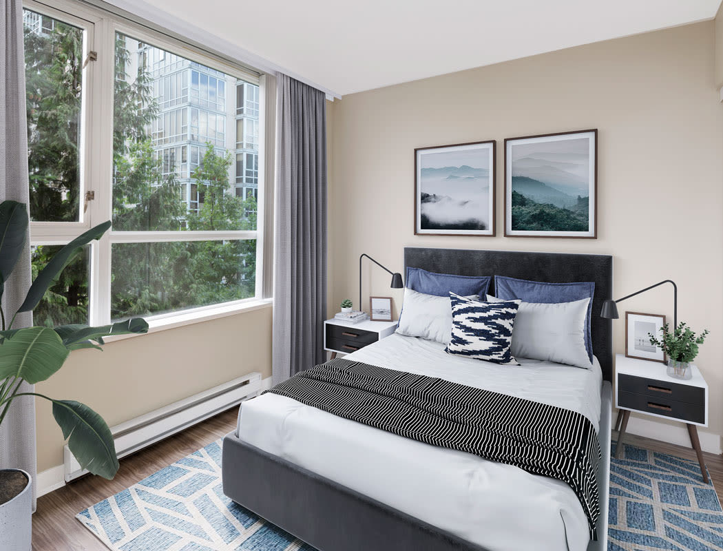 Yaletown 939 offers a beautiful bedroom in Vancouver, British Columbia