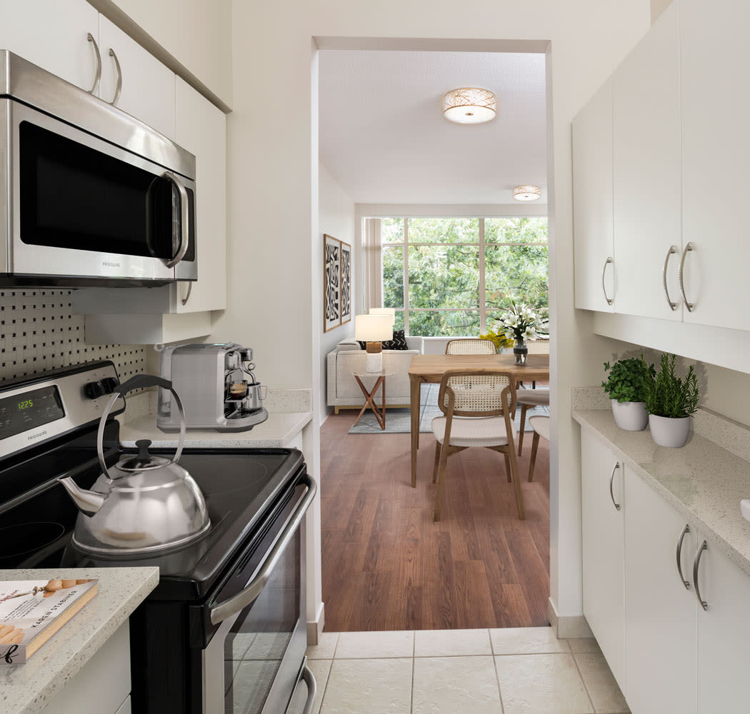 Bright large kitchen at Dunway Court in Vancouver