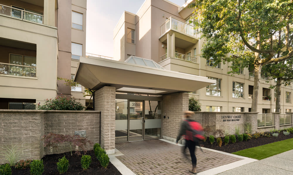 Entrance at Dunway Court in Vancouver, BC
