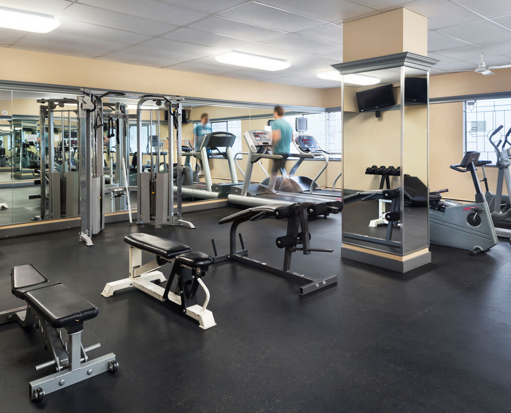 State-of-the-art fitness center at Parkview Towers in Burnaby, British Columbia