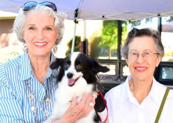 Pet friendly at the senior living community in Redding