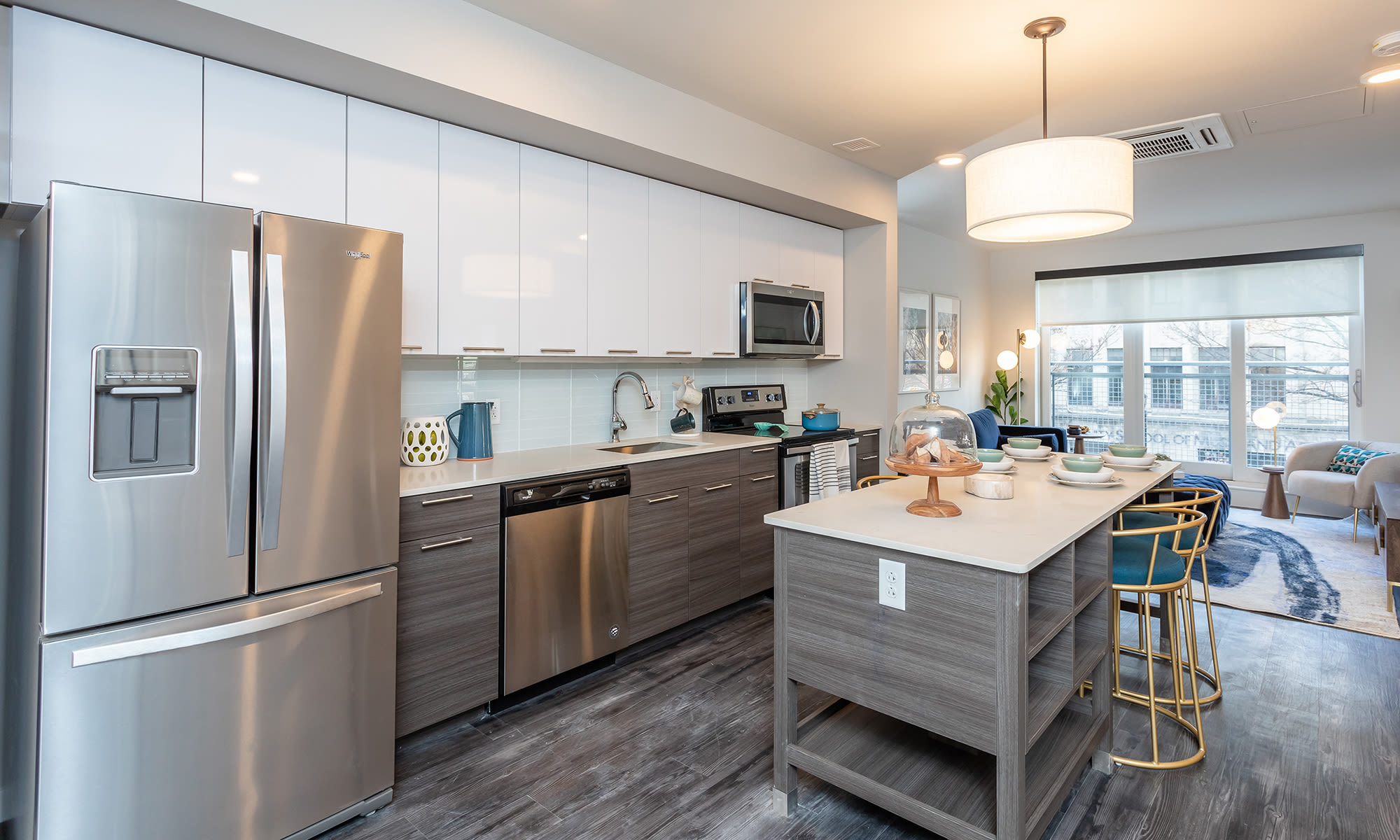 Luxury kitchen at apartments in Ithaca, New York
