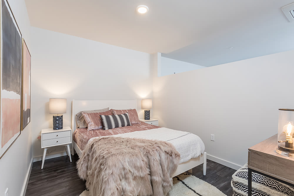 Beautiful bedroom at apartments in Ithaca, New York
