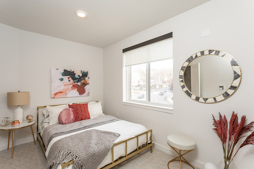 Bedroom at apartments in Ithaca, New York