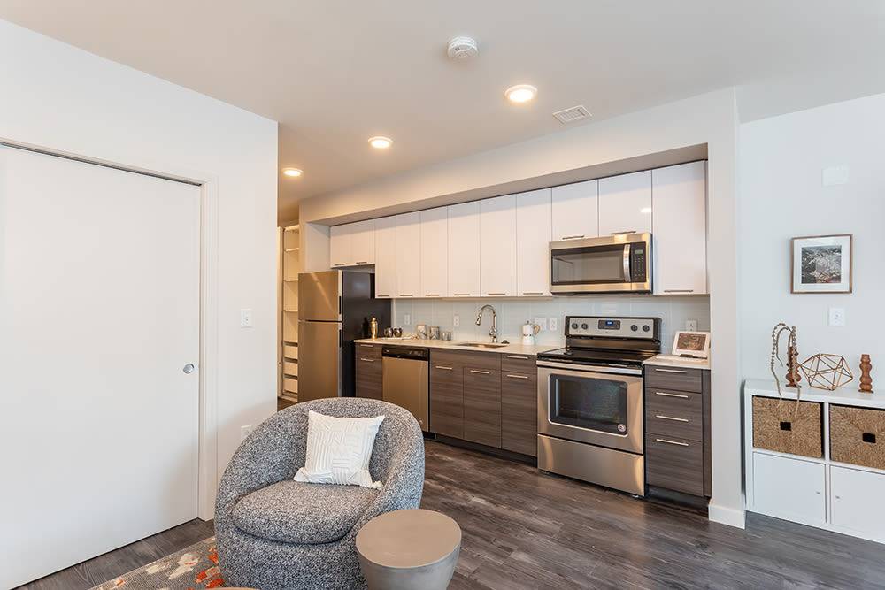 Kitchen at apartments in Ithaca, New York