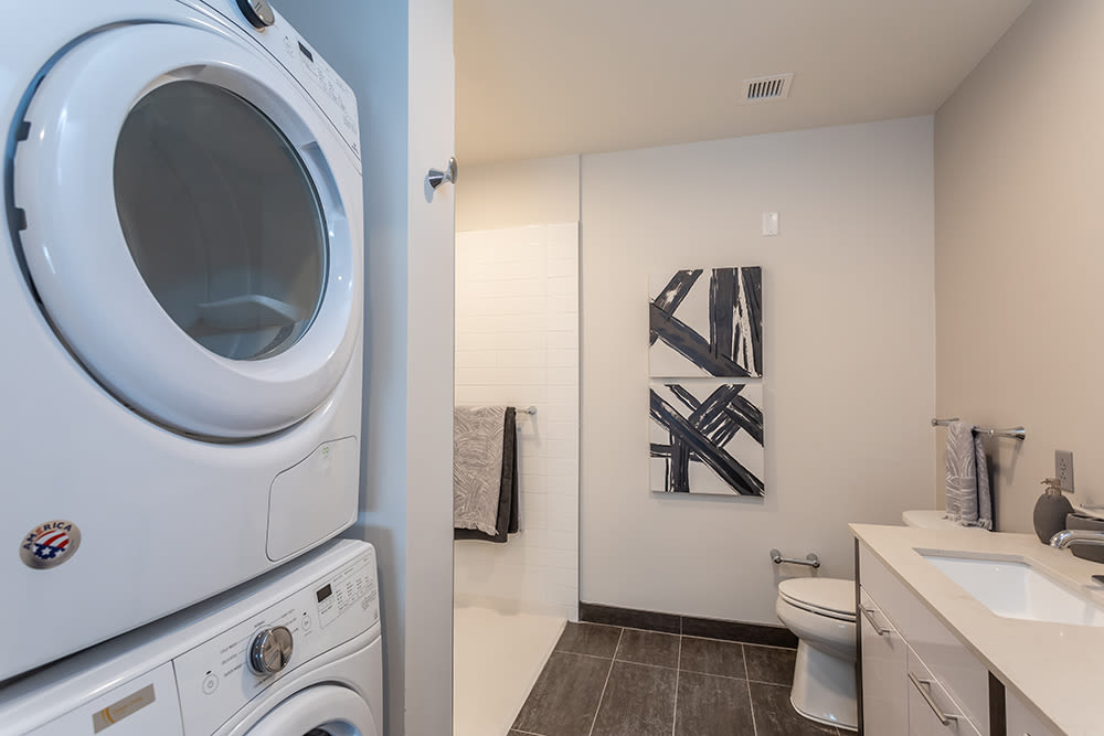 In-home washer and dryer at City Centre Ithaca in Ithaca, New York