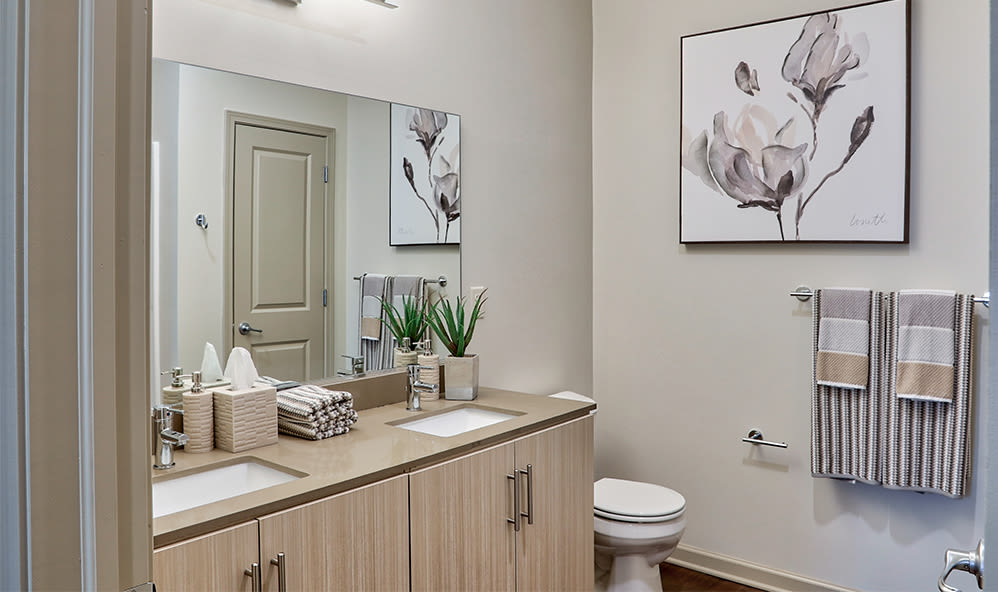 Bathroom at Fairview at Town Center Apartment Homes in Rochester, New York