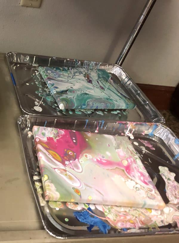 pour painting for seniors