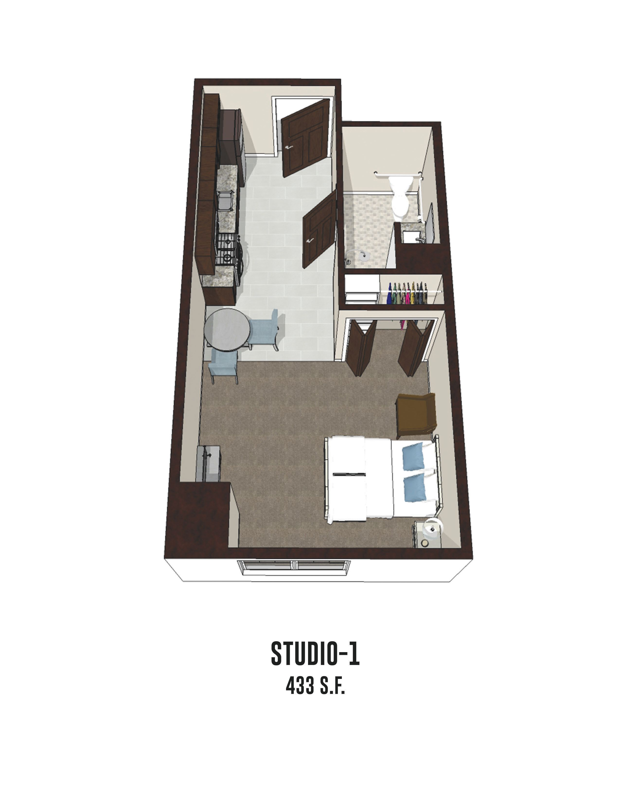 Independent living Studio 1 is 433 square feet at Byron Center in Byron Center, Michigan.
