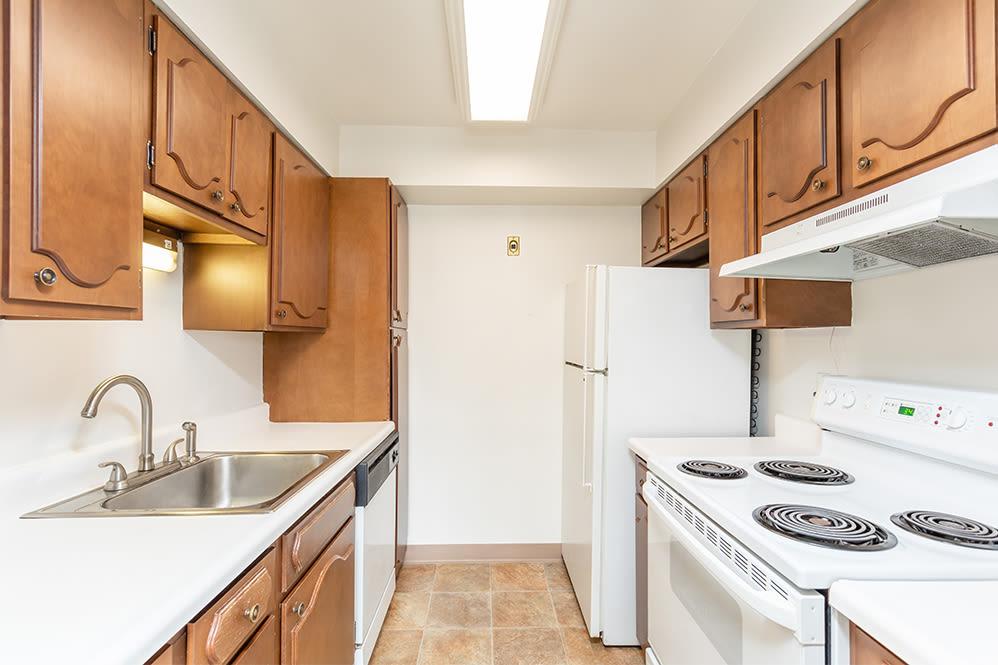 Kitchen at Oak Hill Terrace