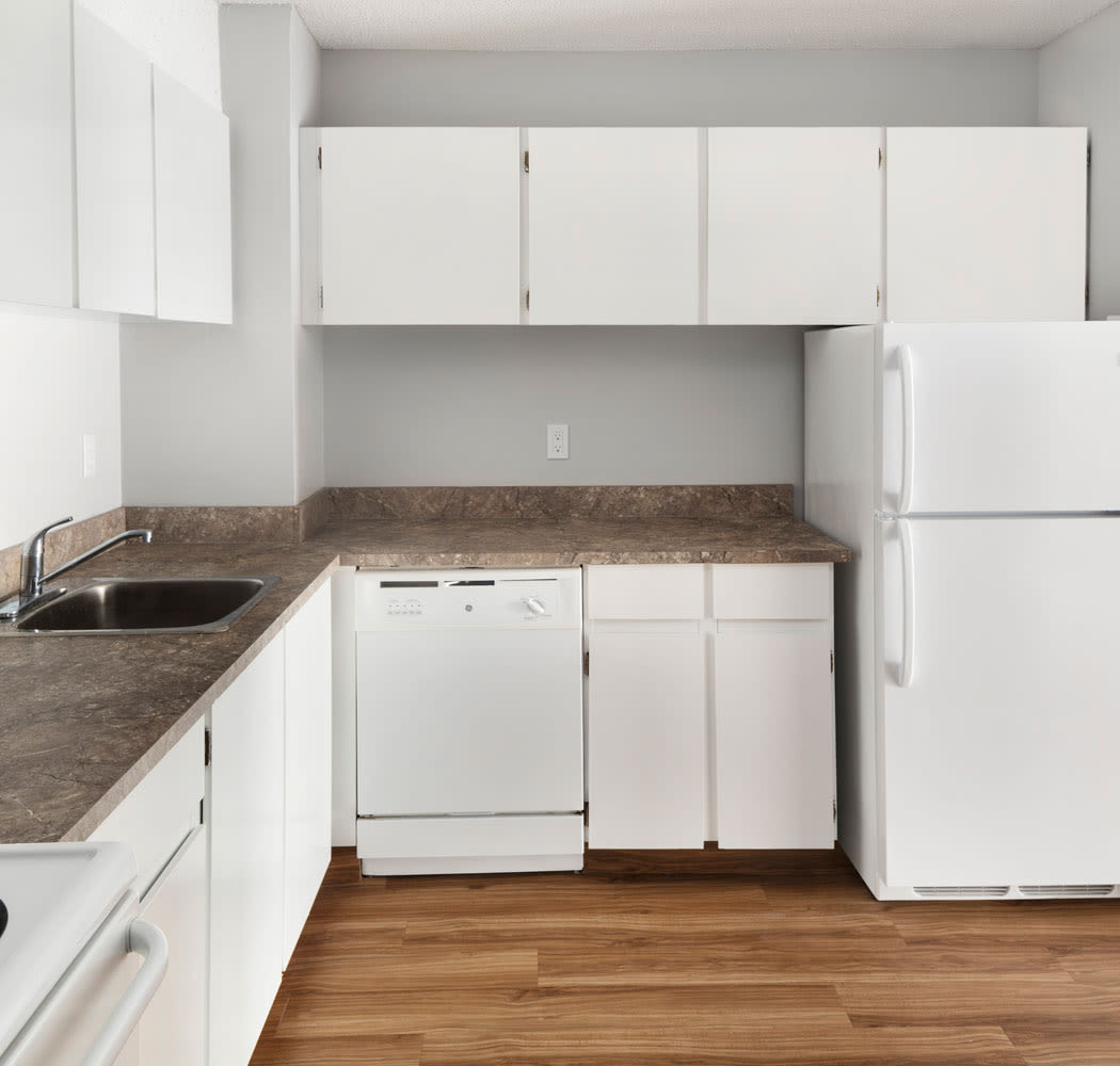 Royal View Apartments offers a beautiful kitchen in Calgary, Alberta