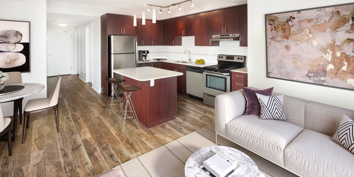 Open floor plans at Elata in Calgary