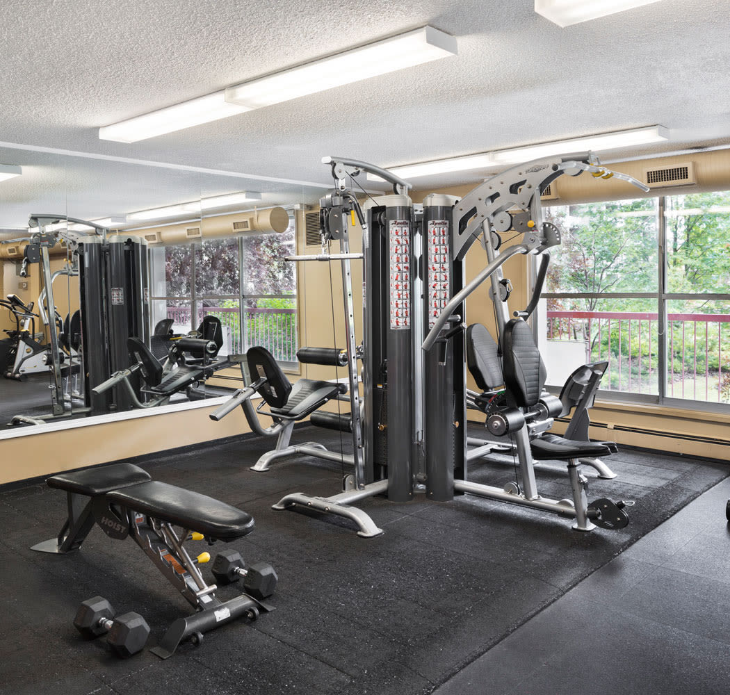 Enjoy our state-of-the-art apartments fitness center at Calgary Place Apartments
